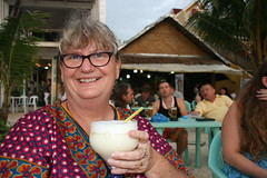 Happy Hour to celebrate Virginia's Birthday (redchillihead) Tags: philippines 2014 holiday filipino tourists boracay island happy hour warren smart virginia winder