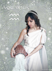 AQUARIUS (Marta Monlen) Tags: woman white blanco water stars 50mm mujer agua estrellas zodiac aquarius acuario zodiaco horscopo nikond700