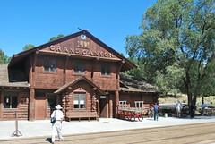 Timber Railroad Depot Building - Grand Canyon South Rim (unclebobjim) Tags: arizona grandcanyon september trail southrim 2011