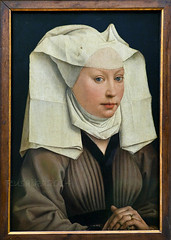 Rogier van der weyden portrait of a young woman oak panel 34 5 x 20