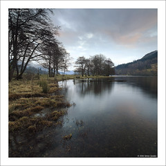 Day end, Loch Voil (SwaloPhoto) Tags: trees winter sunset grass zeiss fence reflections square scotland nationalpark availablelight lochlomond ze stirlingshire thetrossachs lochvoil balquhidder leefilters canoneos5dmkii distagont2821 distagon2128ze