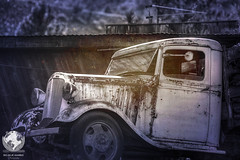 Rusted. (azphotomom37) Tags: arizona white texture truck canon rusty rusted jerome parked hdr bigbluemarblephotograpy