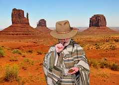 Movie Titles: A Fistful of Dollars [Explored] (zendt66) Tags: park photoshop photo nikon cigar tribal elements dollar western theme pancho navajo monumentvalley weekly challenge navajotribalpark d90 movietitles afistfulofdollars zendt66 52weeks2014