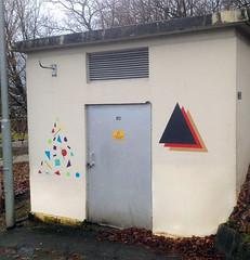Foreign. (Apchi Team) Tags: streetart triangle geometry tape spraypaint minimalism avantgarde suprematism