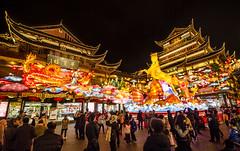 Year of the Horse (Roon & Beks) Tags: china new nikon shanghai year chinese cny lanterns yuyuan d7000 vision:sunset=0563 vision:dark=0808 vision:sky=0824