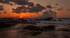 """Sifneiko sunset"" (Theo.Triadafillos) Tags: pink sunset sky water clouds rocks waves purple stones tide wave greece tied splash cyclades antiparos sifneiko photographyforrecreationeliteclub infinitexposure"