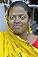 Jaipur - India (Joao Eduardo Figueiredo) Tags: travel pink portrait woman india hot nikon women asia colours dress silk saree sari jaipur rajasthan pinkcity nikond3x joaoeduardofigueiredo