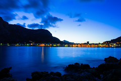 Down Sferracavallo (milazzo_salvatore) Tags: italy night landscape blu down sicily sferracavallo