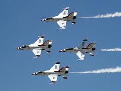 USAF Thunderbirds Lockheed F-16C and F-16D Fighting Falcons (ChrisK48) Tags: 2 3 airplane 1 aircraft 4 f16 thunderbirds viper lukeafb generaldynamics luf fightingfalcon glendaleaz usafthunderbirds kluf lockheedf16d lockheedf16c lukedays2014