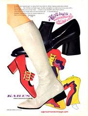1969 karl's footwear ad (CapricornOneVintage) Tags: 1969 vintage kicks 1960s groovy womensshoes patent shinyshoes gogoboots shinyboots vintageboots vintagefashion vintageshoes teenmagazine vintagemagazinead karlsshoes karlsfashionfootwearforthewholefamily