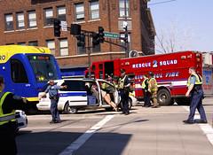 Green Line Crash Drill 3 (HOARYHEAD) Tags: minnesota accident stpaul lightrail saintpaul greenline universityave stpaulmn mockaccident raymondave nikond700 nikon28300mm greenlinecrashdrill universityandraymond