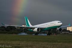 CS-TFZ Airbus A330-200 HiFly Glasgow airport EGPF 29.07-15 (rjonsen) Tags: airport rainbow glasgow airbus egpf