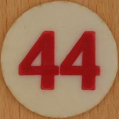 Bingo Number 44 (Leo Reynolds) Tags: xleol30x squaredcircle number numberbingo xsquarex bingo lotto loto houseyhousey housey housie housiehousie numberset 44 sqset120 40s canon eos 40d xx2015xx xxtensxx sqset