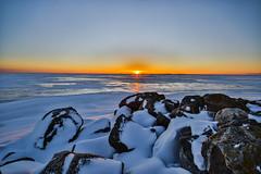 Winter sunset (Arttu Uusitalo) Tags: sunset sunny clear sky seaside seashore icy frosty frozen baltic sea gulf bothnia finland wint winter february saturday afternoon rocky canon eos 7d mkii bergö malax maalahti ostrobothnia wideangle 1020 sigma
