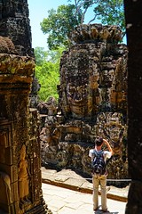 Angkor Wat, Siem Reap, Cambodia (adamba100) Tags: asia asian china chinese korea korean mongolia mongolian vietnam vietnamese thai beijing town city view landscape cityscape street life lifestyle style people human person man men woman women male female girl boy child children kid interesting portrait innocent cute charm pretty beauty beautiful innocence play face headshot pure purity tourism sightseeing tourist travel trip light color colour outdoor traditional cambodia cambodian phnom penh sony a6300 18105 siem reap pattaya bangkok colonnade architecture column ruins ancient