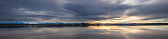 Sunset panorama (hjuengst) Tags: panorama lake lakestarnberg starnbergersee sunset clouds reflection bavaria germany alps seeshaupt stheinrich