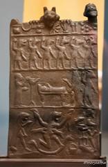 Bronze amulet against bad spirits and diseases (Merja Attia) Tags: bronzeplaque amulet mesopotamia assyrian iraq museum ancientorientmuseum istanbul turkey istanbularkeolojimüzeleri ancienthistory