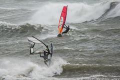 Bigbury on Sea windsurfers - 17 (Matchman Devon) Tags: bigbury sea south hams windsurfers wind waves surf windsurfer