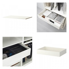 Shelf & Drawers (Heath & the B.L.T. boys) Tags: ikea closet shelves organize storage drawers