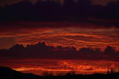 Sunset 3 5 2017 #08 (Az Skies Photography) Tags: sun set sunset dusk twilight nightfall cloud clouds sky skyline skyscape red orange salmon golden gold black rio rico arizona az riorico rioricoaz arizonasky arizonaskyline arizonaskyscape arizonasunset canon eos rebel t2i canoneosrebelt2i eosrebelt2i march 5 2017 march52017 3517 352017
