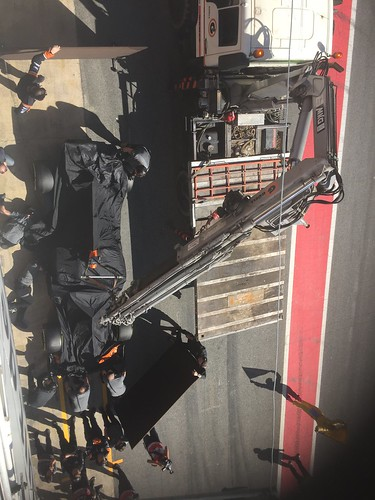 The McLaren makes it back to the pits