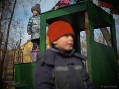 On the children's playground (pavel iovik) Tags: moscow russia olympus iovik paveliovik tevidon spring childish pranks boys children
