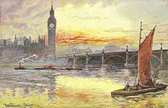 Westminster Bridge (Leonard Bentley) Tags: uk london bigben tug lighters riverthames metropolitan westminsterbridge palaceofwestminster canonrow cannonrow