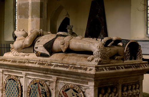 Stanford on Avon, Northamptonshire, monument to Sir Thos. Cave †1558 & his wife Elizabeth, detail