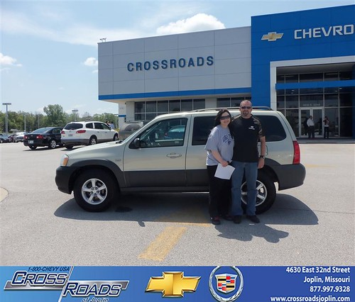 Crossroads Chevrolet Cadillac would like to say Congratulations to Brent Shore on the 2005 Mazda Tribute