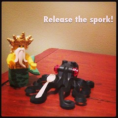 Release the kracken! (betsyweber) Tags: nerd square geek lego lofi squareformat octopus minifig neptune spork kracken legominifigures iphoneography instagramapp uploaded:by=instagram sporkclub
