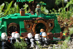 """Still no sign of Insurgents Mr Baggins?"" (kevinmboots77) Tags: starwars lego stormtroopers lordoftherings thehobbit insurgent bagend sandtroopers legography"
