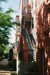 Appartments (Emma Vaincourt) Tags: city orange staircase appartments