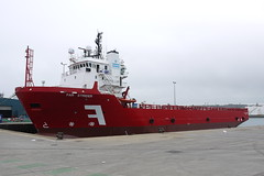 Far Strider (crystalseas) Tags: red june boat harbour offshore aberdeen farstrider supplyboat 2013