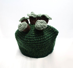 Trees On A Hill Tea Cosie (GezuntehMoid) Tags: trees english landscape scenery hill novelty housewarming crocheted grassyknoll teaandsympathy teapotwarmer teacosie retirementgift knittedhillock