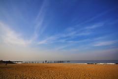 calicut beach (Madhu_kannan) Tags: blue india beach kara sand kerala calicut kadal theeram