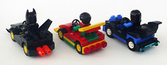 Bat Racers back (Oky - Space Ranger) Tags: bird robin dc lego bat super batman heroes racers universe batmobile nightwing
