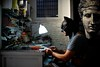 "161/365 - ""I'm Batman"" nr.11 - EXPLORED - Jul 23, 2013 #37 (Luca Rossini) Tags: portrait man guy project gold blog lab sitting sony working bracelet 365 goldsmith imbatman rx1 365daysofrx1onecameraonelens12projects"