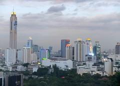 Light Up Bangkok (stardex) Tags: sky building skyline architecture skyscraper thailand dusk bangkok baiyokehotel stardex