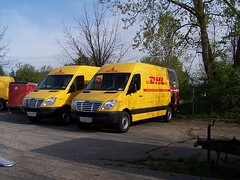 DHL Vans (Funtrail Vehicle Accessories) Tags: delivery fleet dhl