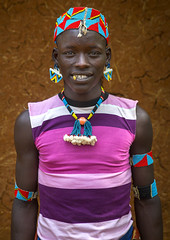 Bana Tribe Man, Key Afer, Omo Valley, Ethiopia (Eric Lafforgue) Tags: africa pink portrait color men fashion vertical bena outdoors photography necklace colorful day outdoor african jewelry tribal ornament bead omovalley tradition ethiopia tribe bana hamar oneperson jewel stripedshirt hamer onepeople frontview pompom lifestyles headwear hornofafrica headandshoulders banna eastafrica brightcolour tribesman traditionalclothing realpeople blackskin lookingatcamera onlymen coloredbackground benna onemanonly waistup keyafer colourimage africanethnicity 1people pastoralist pastoralism keyafar snnpr midadultmen onlyteenageboys oneadult ethiopianethnicity omo13783