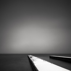 snow covered piers (StephenCairns) Tags: longexposure winter snow japan piers 雪 冬 blackandwhitephotography nagahama モノクロ 琵琶湖 lakebiwa neutraldensityfilter stephencairns 長浜市 6stopndfilter leegraduatedfilters hitechprostopndfilters 長い時間露出