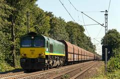 Hüthum Class 66 DE 63 richting Nederland (Rob Dammers) Tags: groen diesel nederland 66 class duitsland goederen locomotief