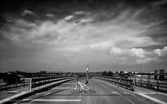 bridge 4236 (orikanovich) Tags: road sky blackandwhite cloud blancoynegro bike bicycle landscape town carretera btt mountainbike ciudad bicicleta paisaje cielo cycle nubes mtb bicicletademontaa boadilladelmonte