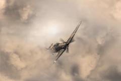 The Hurricane (cjpphotographic) Tags: sunset red sky beautiful plane high aircraft hurricane worldwarii raf stormclouds