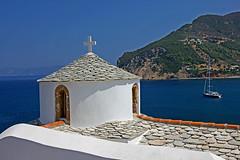 White & Blue... (Debbie -GR) Tags: church skopelos autofocus sporades greekisland mygearandme ringexcellence dblringexcellence