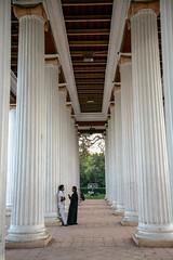 Black and white (niledream) Tags: bridge people india architecture couple columns perspective pillars kolkata calcutta westbengal hooghly vidyasagarsetu secondhooghlybridge prinsepghat jamesprinsep