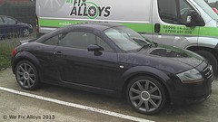 "Audi TT alloy wheels refurbished by We Fix Alloys in anthracite • <a style=""font-size:0.8em;"" href=""http://www.flickr.com/photos/75836697@N06/10378674256/"" target=""_blank"">View on Flickr</a>"