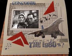 Concorde ({ ka2rina }) Tags: collage scrapbook mixedmedia alteredbook concorde mailart 1980s