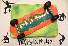 Skateboard Cake by Valeria, Triad, NC. www.birthdaycakes4free.com