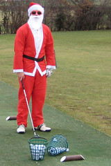 001 - Father Christmas warming up for the annual RedHedz Roll-Up Xmas Trophy (Neville Wootton Photography) Tags: golf humour fatherchristmas canonixus70 stmelliongolfclub martynhunkin mensgolfsection 2010golfseason redhedzrollupxmastrophy